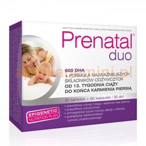 HOLBEX Prenatal DUO, Prenatal Classic, 30 tabletek + Prenatal DHA, 60 kapsułek