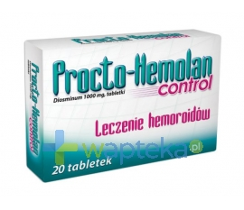 AFLOFARM FABRYKA LEKÓW SP.Z O.O. Procto-Hemolan control 20 tabletek