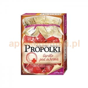 Nepentes Propolki z dziką różą i sokiem malinowym, 16 pastylek do ssania
