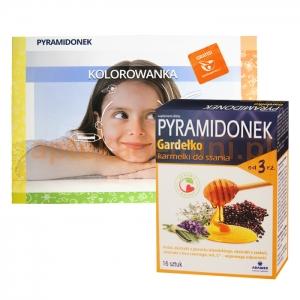 Adamed Pyramidonek Gardełko, karmelki do ssania, od 3 lat, 16 sztuk+ PYRAMIDONEK KOLOROWANKA GRATIS !