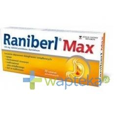 BERLIN CHEMIE AG Raniberl Max 10 tabletek