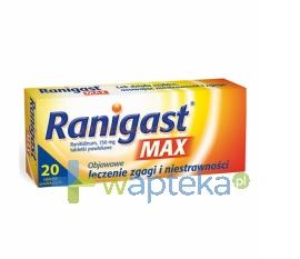 ZAKŁADY FARMACEUTYCZNE POLPHARMA S.A. Ranigast MAX 150mg 20 tabletek