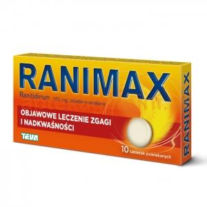 PLIVA Ranimax 150mg, 10 tabletek