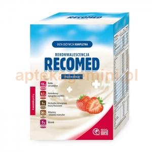 REGIS MED RecoMed, Dieta odżywcza kompletna, smak truskawkowy, 6 saszetek
