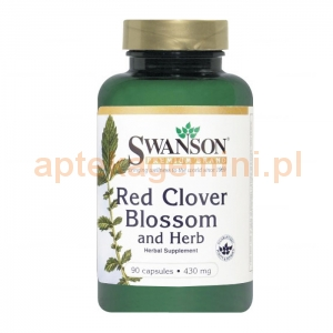 SWANSON Red Clover Blossom and Herb 430mg, SWANSON, 90 kapsułek