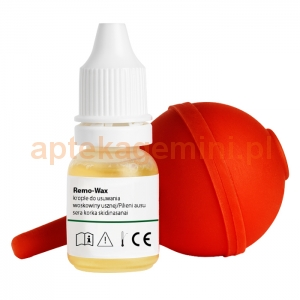 ORION Remo-Wax, krople do usuwania woskowiny usznej, 10ml + gumowa gruszka