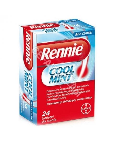 BAYER Rennie cool mint x 24 tabletki do ssania