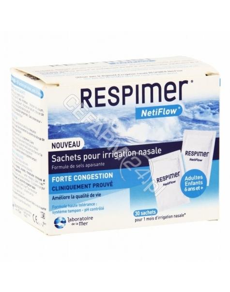 QPHARMA Respimer NetiFlow zestaw uzupełniający do płukania nosa i zatok x 30 sasz