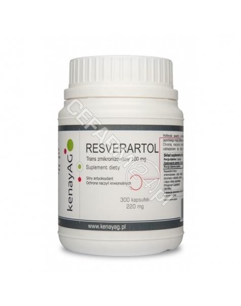 KENAY Resveratrol zmikronizowany 100 mg x 300 kaps (data ważności 29.02.2016)