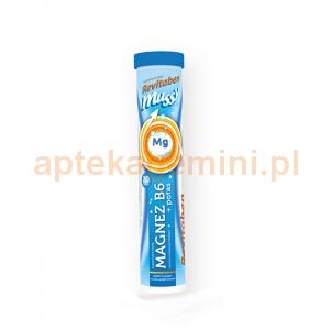 NORD FARM Revitaben Mussy Magnez B6 + Potas, 20 tabletek musujących