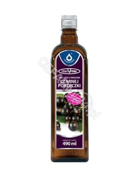 OLEOFARM RibesVital 100% sok z owoców czarnej porzeczki 490 ml