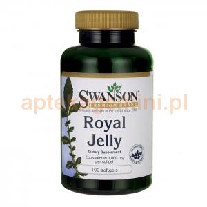 SWANSON Royal Jelly, mleczko pszczele, SWANSON, 100 kapsułek
