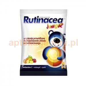 Aflofarm Rutinacea Junior, żelki dla dzieci powyżej 3 lat, 30 sztuk