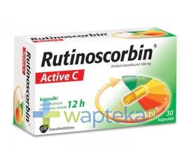 GLAXOSMITHKLINE PHARMACEUTICALS S.A. Rutinoscorbin Active 30 kapsułek