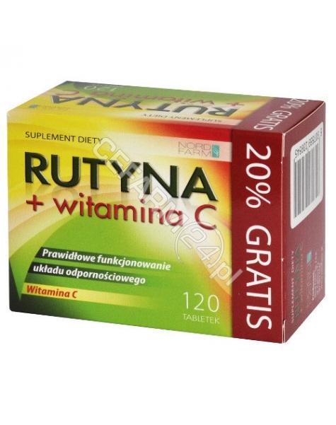 NORD FARM Rutyna + witamina C x 120 tabl