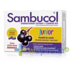 SEQUOIA SP. Z O.O. Sambucol Junior pastylki do ssania 20 sztuk