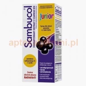 SEQUOIA Sambucol Junior, syrop dla dzieci powyżej 6 roku życia, 120ml