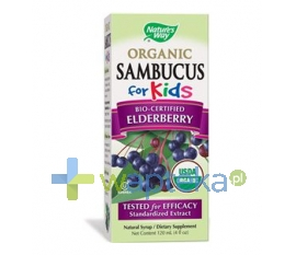 SIROSCAN SP. Z O.O. Sambucus for kids Natures Way syrop 120ml