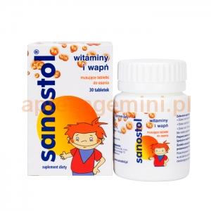 TAKEDA Sanostol, dla dzieci od 4 lat, 60 tabletek musujących do ssania