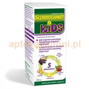 POLPHARMA Scorbolamid Kids, syrop, dla dzieci powyżej 3 lat, 115ml OKAZJA