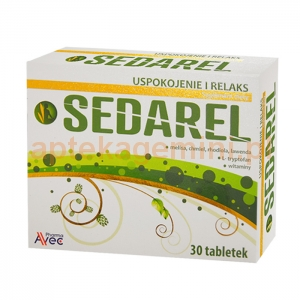 AVEC PHARMA Sedarel, 30 tabletek
