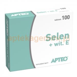SYNOPTIS PHARMA Selen + witamina E, Apteo, 100 tabletek