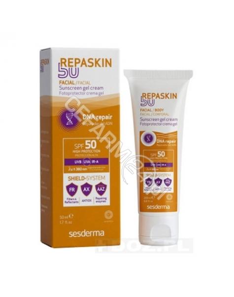 SESDERMA Sesderma Repaskin liposomowy żel-krem ochronny do twarzy spf 50+ 50 ml