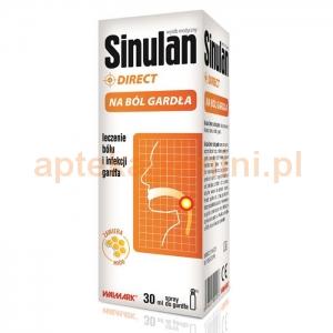 Walmark Sinulan Direct, spray na ból gardła, 30ml