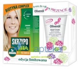 N.P.ZDROVIT SP Z O.O. Skrzypovita 1 x dziennie Biotyna Complex 42 tab. + Olivenol krem do rąk 50ml GRATIS