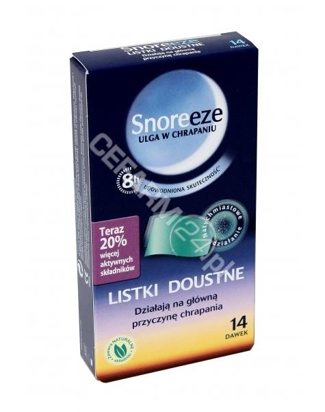 PASSION FOR Snoreeze listki doustne likwidujące chrapanie x 14 szt