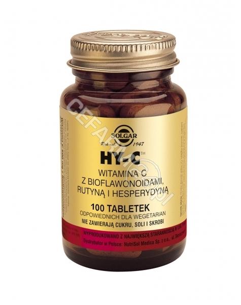 SOLGAR Solgar HY-C witamina C z bioflawonoidami x 100 tabl