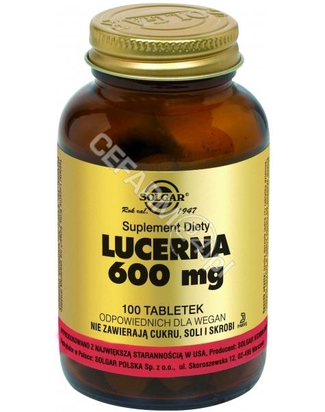 SOLGAR Solgar Lucerna 600 mg x 100 tabl