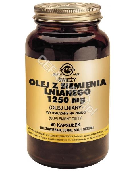 SOLGAR Solgar Olej z Siemienia Lnianego 1250 mg x 90 kaps