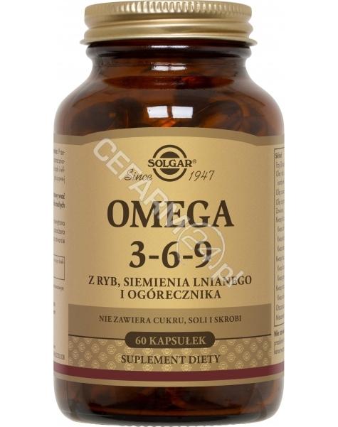 SOLGAR Solgar Omega 3-6-9 x 60 kaps (z ryb, siemienia lnianego i ogórecznika)
