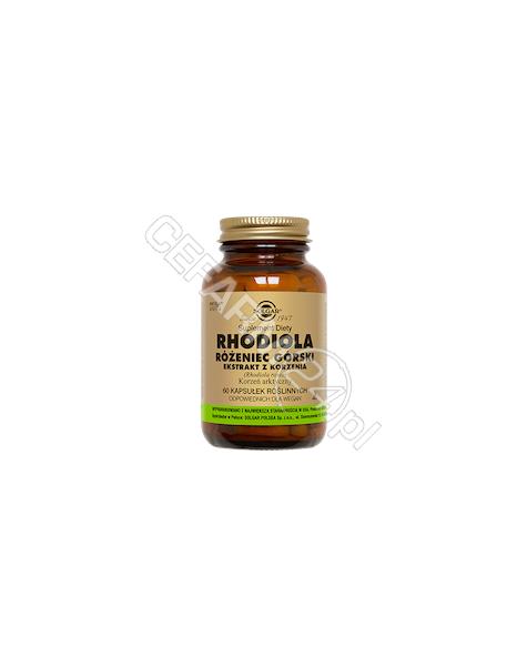 SOLGAR Solgar rhodiola różeniec górski x 60 kaps