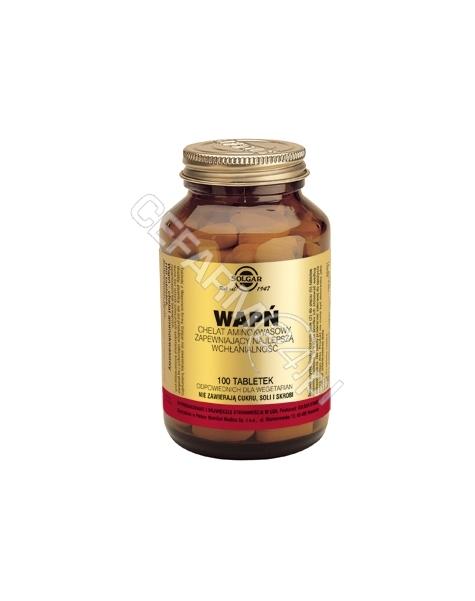SOLGAR Solgar Wapń chelat aminokwasowy x 100 tabl