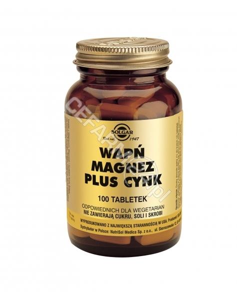 SOLGAR Solgar Wapń Magnez plus Cynk x 100 tabl