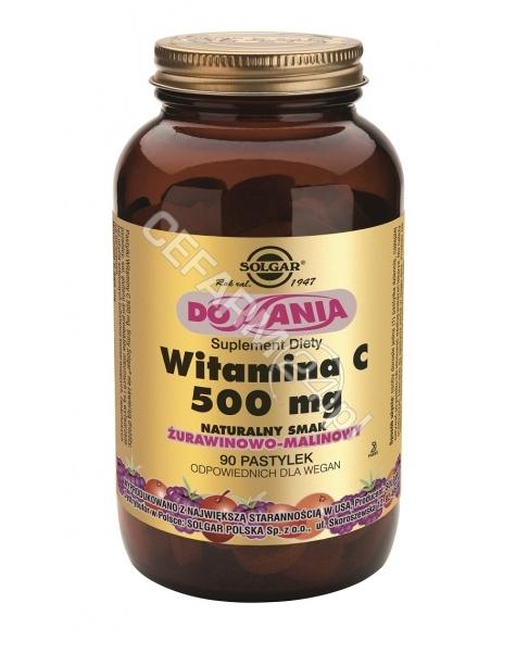 SOLGAR Solgar Witamina C 500 mg x 90 pastylek do ssania o smaku żurawinowo-malinowym