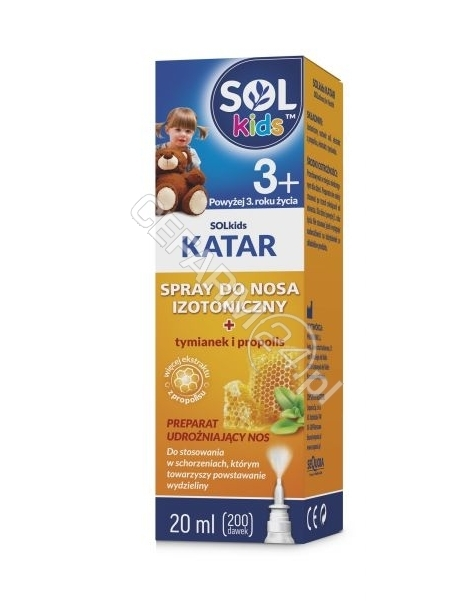 SEQUOIA Solkids katar spray do nosa 20 ml