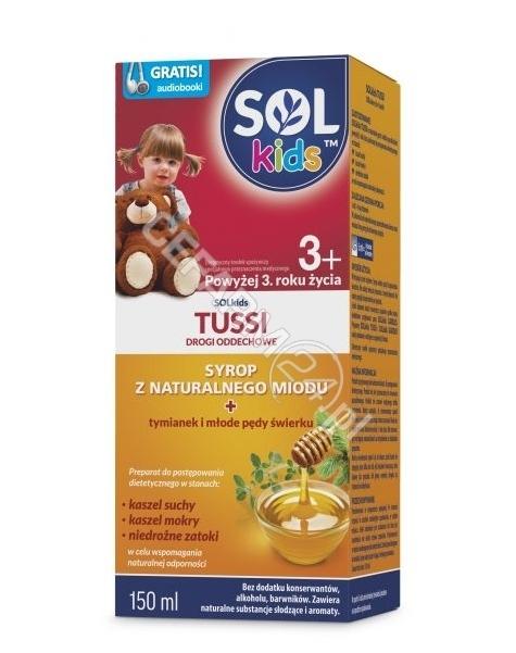 SEQUOIA Solkids tussi syrop dla dzieci powyżej 3 roku 150 ml
