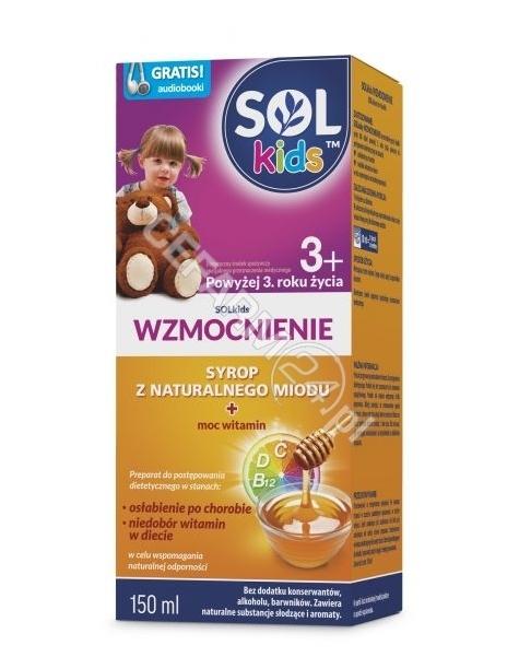 SEQUOIA Solkids wzmocnienie syrop powyżej 3-ego roku życia 150 ml