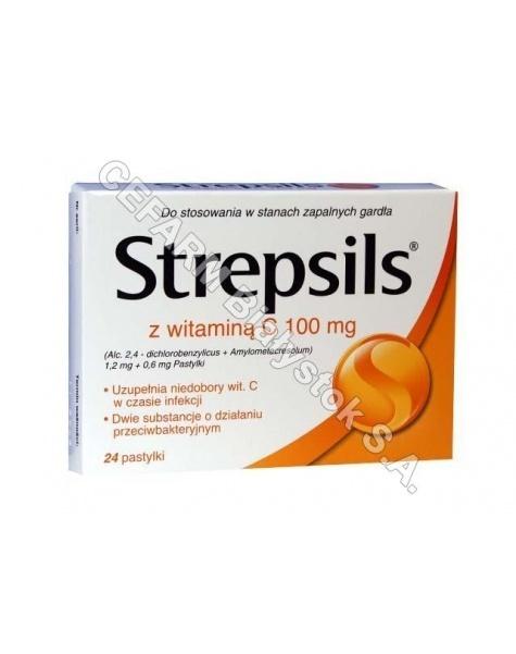 BOOTS Strepsils pomarańczowy z witaminą c x 24 tabl do ssania
