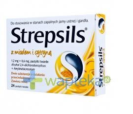 BOOTS HEALTHCARE SP.Z O.O. Strepsils z naturalnym miodem i cytryną 24 pastylki