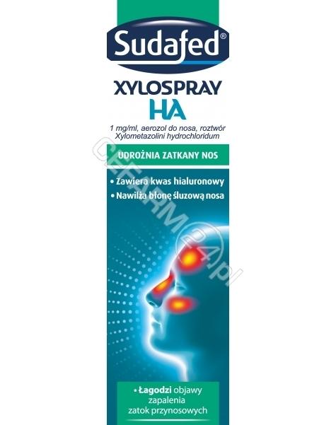 MCNEIL Sudafed xylospray HA 1 mg/ml aerozol 10 ml