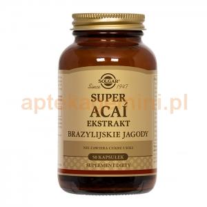 SOLGAR Super Acai, ekstrakt z brazylijskiej jagody, Solgar, 50 kapsułek