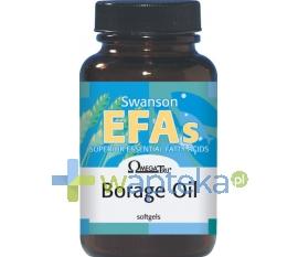 Swanson Health Products SWANSON Borage oil (Olej z ogórecznika) 1000mg 60 kapsułek