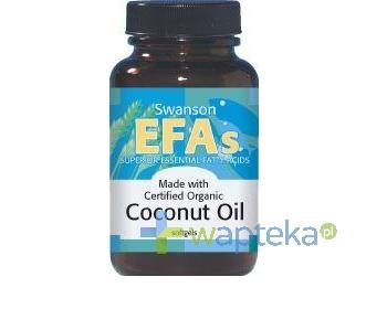 Swanson Health Products SWANSON Olej z kokosa 1000mg 60 kapsułek