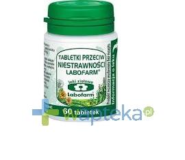 LABOFARM Tabletki przeciw niestrawności, 60 tabletek
