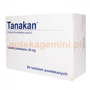 INPHARM Tanakan, 90 tabletek IMPORT RÓWNOLEGŁY