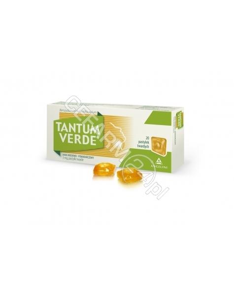ANGELINI Tantum verde 3 mg x 30 pastylek do ssania o smaku miodowo - pomarańczowym
